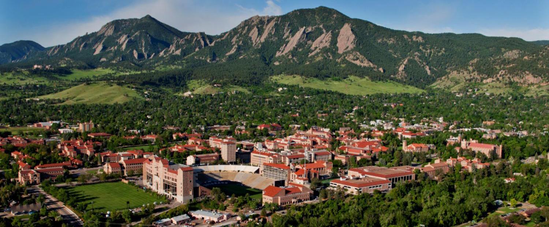 CU Boulder aerial