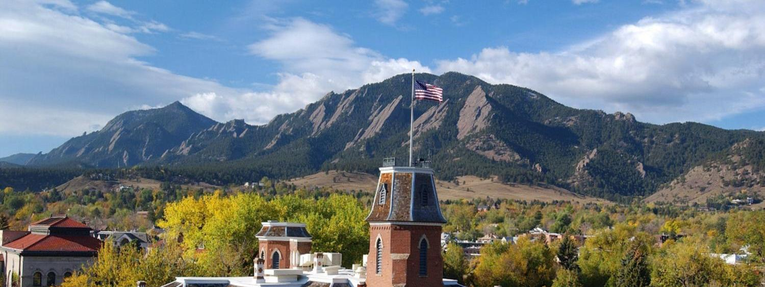 Old main and flatirons