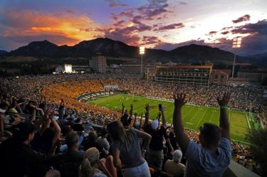 Buffs nighttime football scene