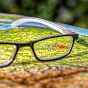 Map with glasses