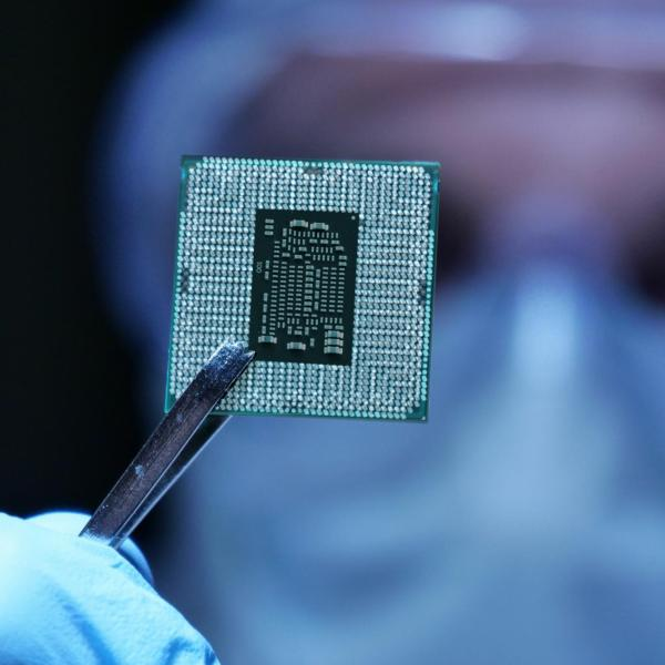A biomedica chip ready for implant by a doctor