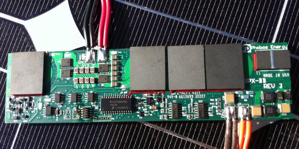 A BIPV 250 W boost converter with MPPT is 7 mm thick and fits inside a residential roof shingle.