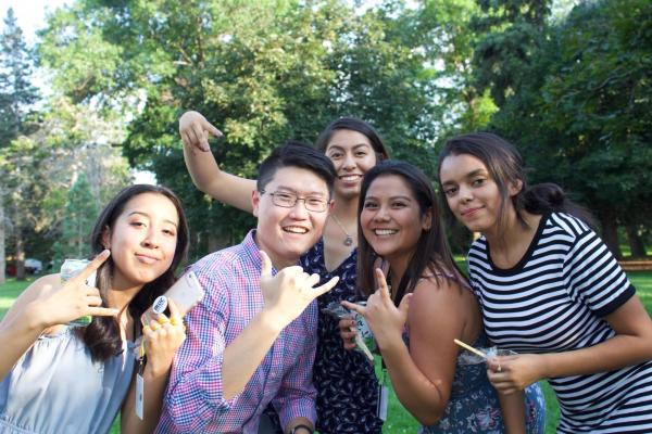 PCDP students posing for a photo during an ice cream social
