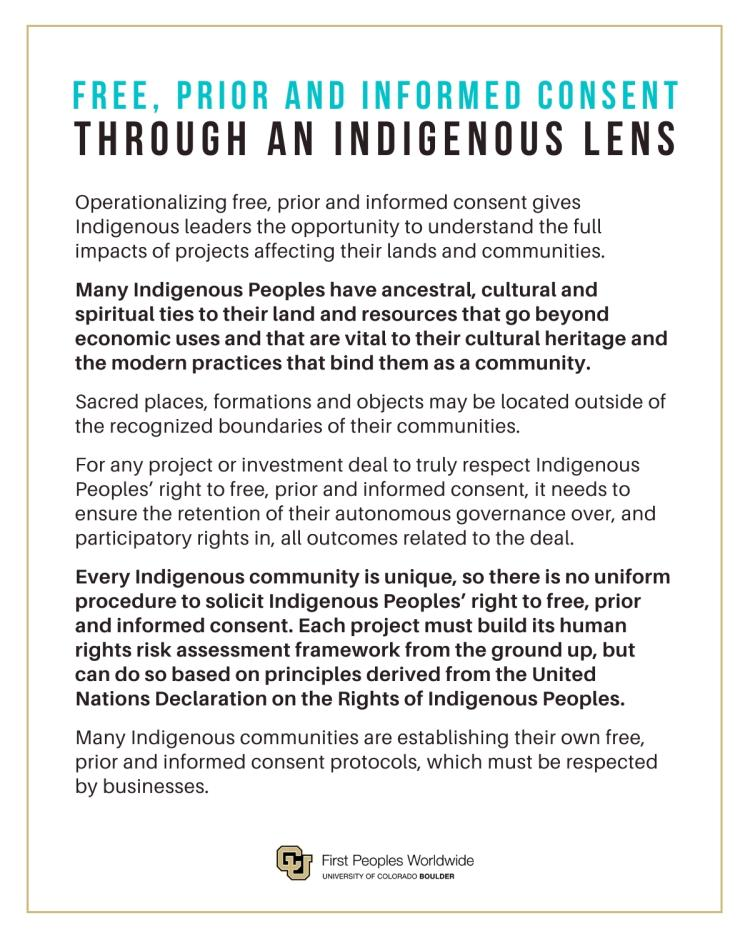 FPIC Primer - Indigenous Peoples Considerations