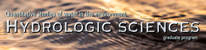 "Hydrologic Sciences graduate program"" are overlaid"