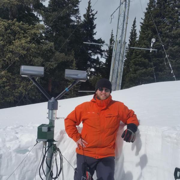 Josh Aikins once again digging out a PARSIVEL disdrometer from the deep snowpack at Niwot Ridge, Colorado at 11,000 feet elevation on 18 February 2016.