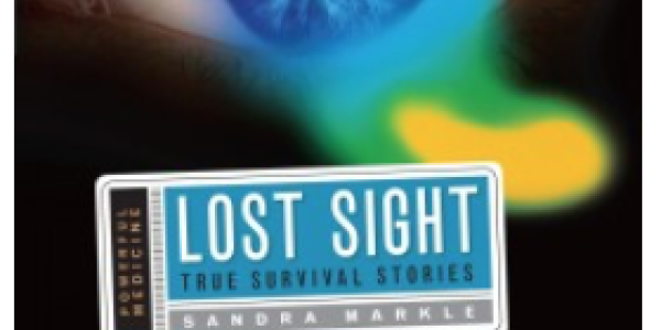 "Book cover showing an open eye and title ""Lost Sight"""
