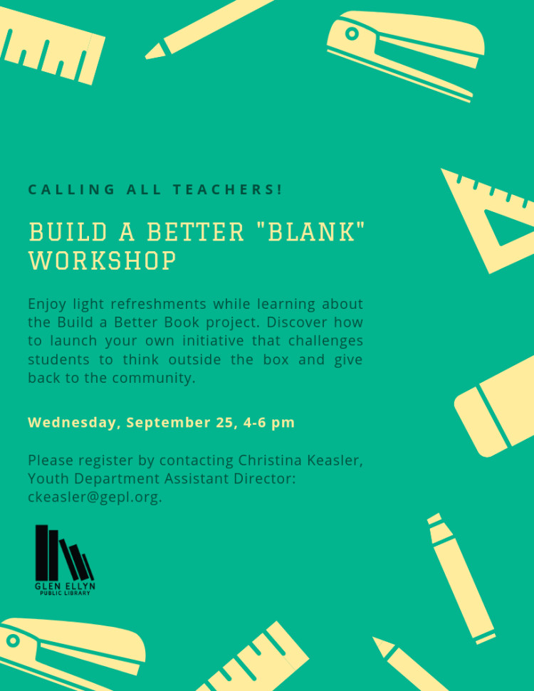 Poster for Build a Better Blank workshop event