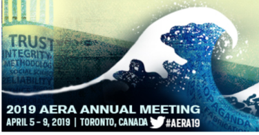 Wave logo for the AERA conference