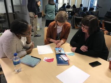 Workshop participants brainstorming ideas.