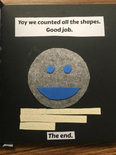 Page showing a smiley face for finishing the book.
