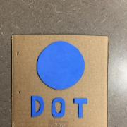 Book cover for Dot with braille and foam dot shape