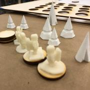 3D printed trees as playing pieces