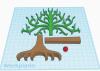 Illustration of 3D model of tree parts