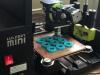 3D printer printing textured playing pieces