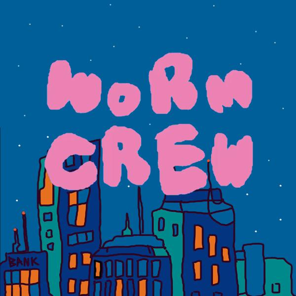 """Animation with the words """"word crew"""" against a city skyline"""