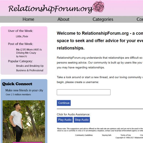 Interface of artistic dating website
