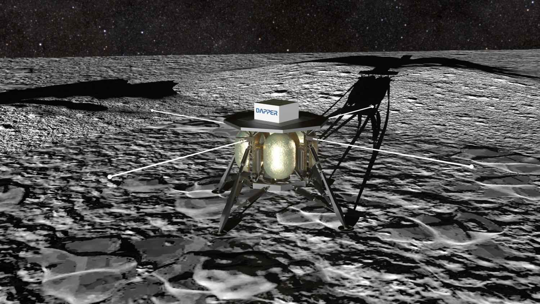 Artist illustration of the Dark Ages Polarimetry Pathfinder (DAPPER)
