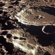 An orbital view of Daedalus, a high-rimmed lunar farside crater that offers extra shielding from Earth's radio chatter, which can contaminate delicate scientific observations. The crater could someday become a protected lunar site. Credit:NASA
