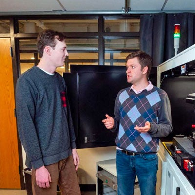 Denny Schaedig (L) and Logan Collins (R ) -- photo credit Patrick Campbell
