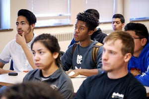undergrads in classroom