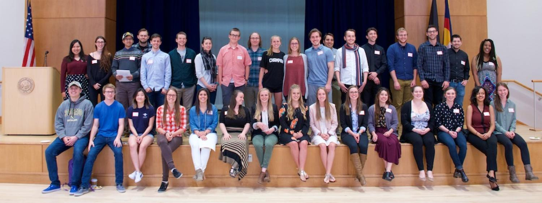 Undergraduate research day participants