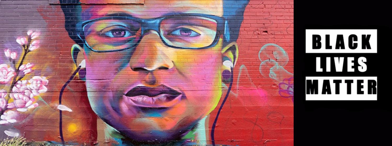 Black Lives Matter mural graphic