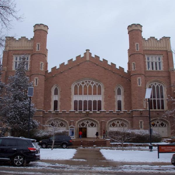 Macky Auditorium, site of the ceremony