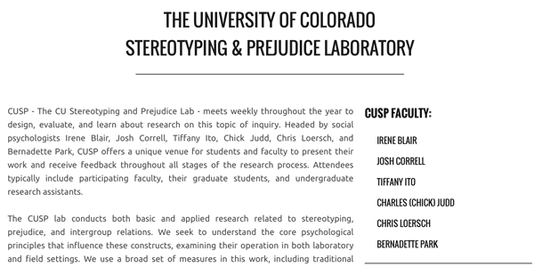 cusp lab website screenshot