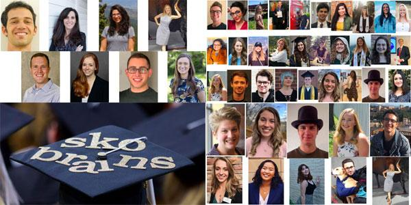 images of grad degrees, honors students, and awards winners