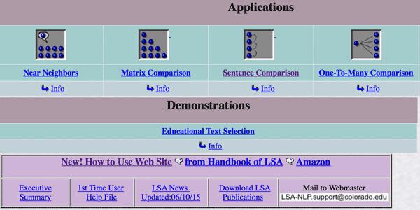 LSA screenshot