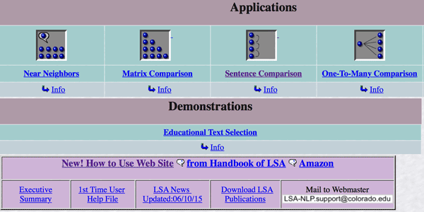 LSA screenshot