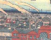 Meiji era drawing of facory