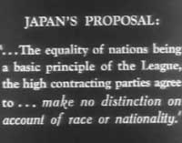 japan's proposal for relationship with the U.S. 1905-33