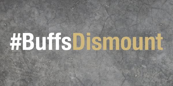 Graphic stating # Buffs Dismount