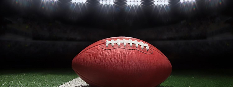 Photo of a football on Folsom Football Field