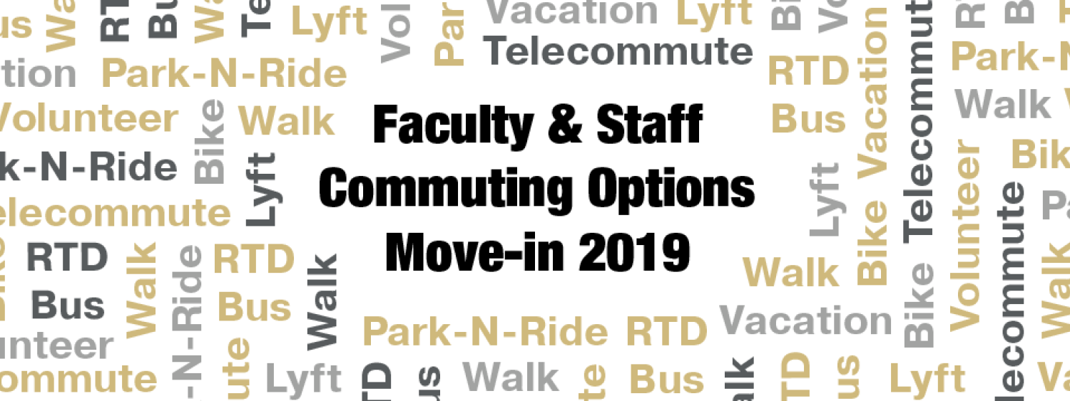 Faculty and staff commuting options move-in 2019 graphic