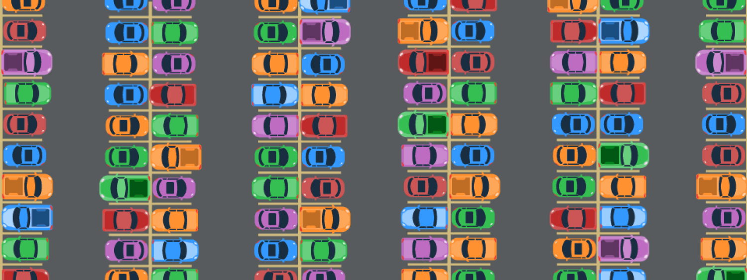 Graphic of a full parking lot
