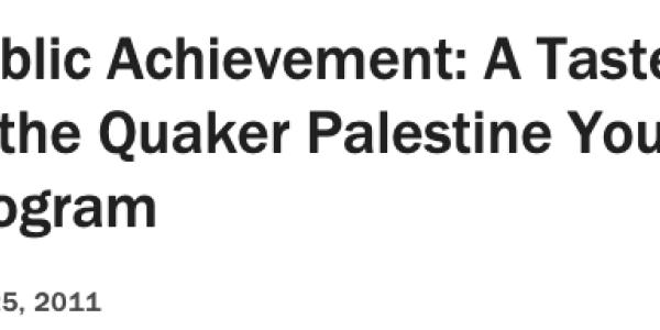 Public Achievement: A Taste of the Quaker Palestine Youth Program