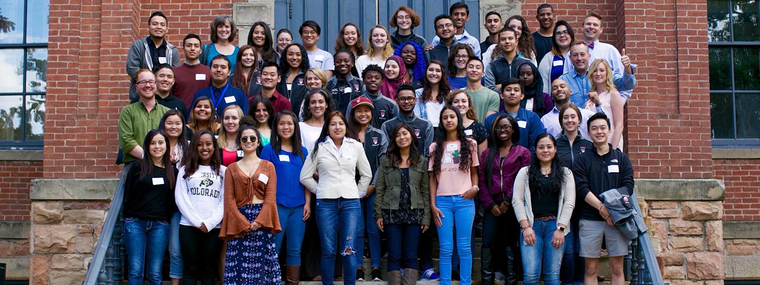 Puksta Scholars across Colorado at Inter-collegiate Retreat, Fall 2016