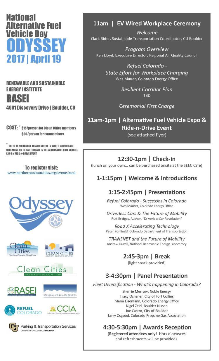 Agenda/Flyer Odyssey Day