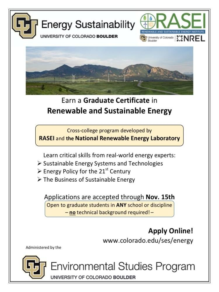 Apply Now Graduate Energy Certificate Renewable Sustainable