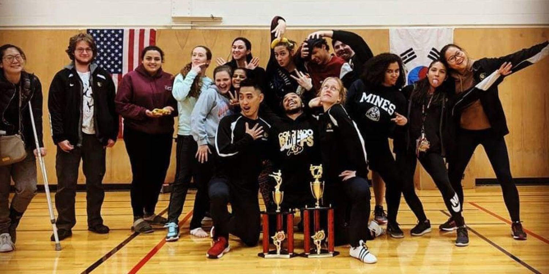 Taekwondo team photo