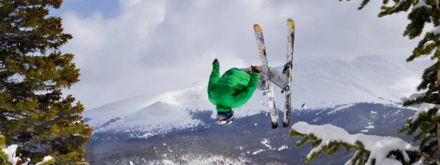 freestyle skier doing a flip