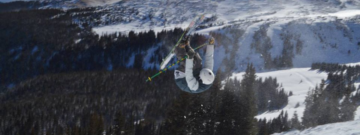 freestyle skier in the air
