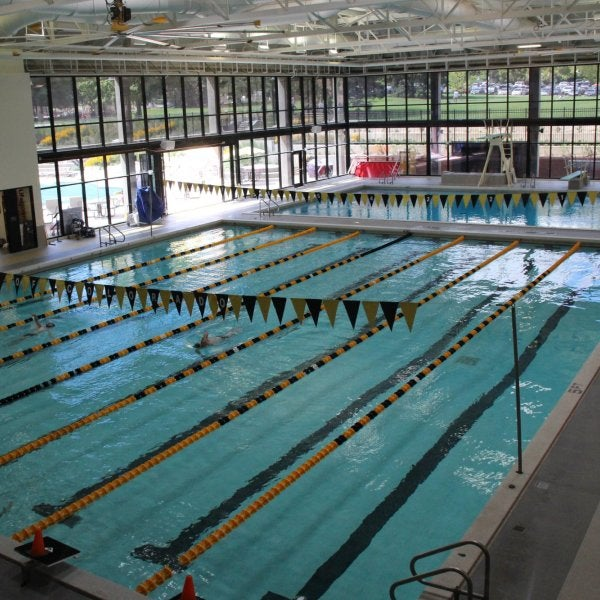 indoor pool at the rec