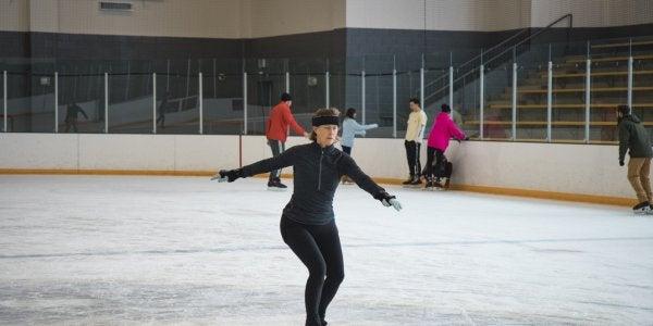 Person skating