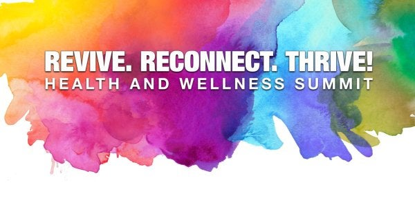 health and wellness summit on a watercolor background