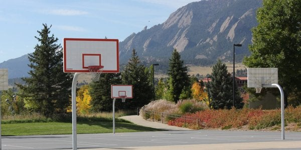 Outdoor Lighted Basketball Courts