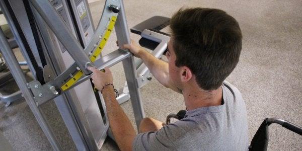 student using ada equipment